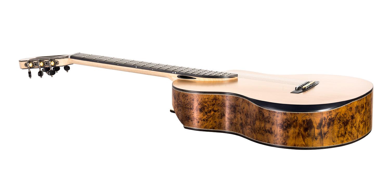 Imbuya burl classical guitar