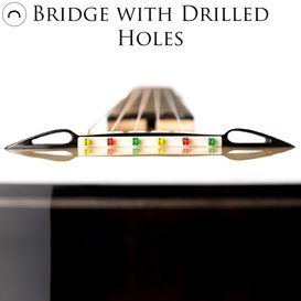Bridge with drilled holes