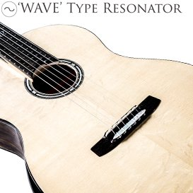 'WAVE' type resonator - guitar construction