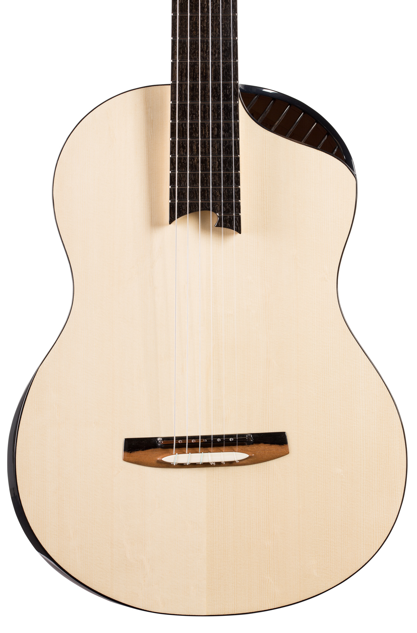 Spruce guitar with soundport