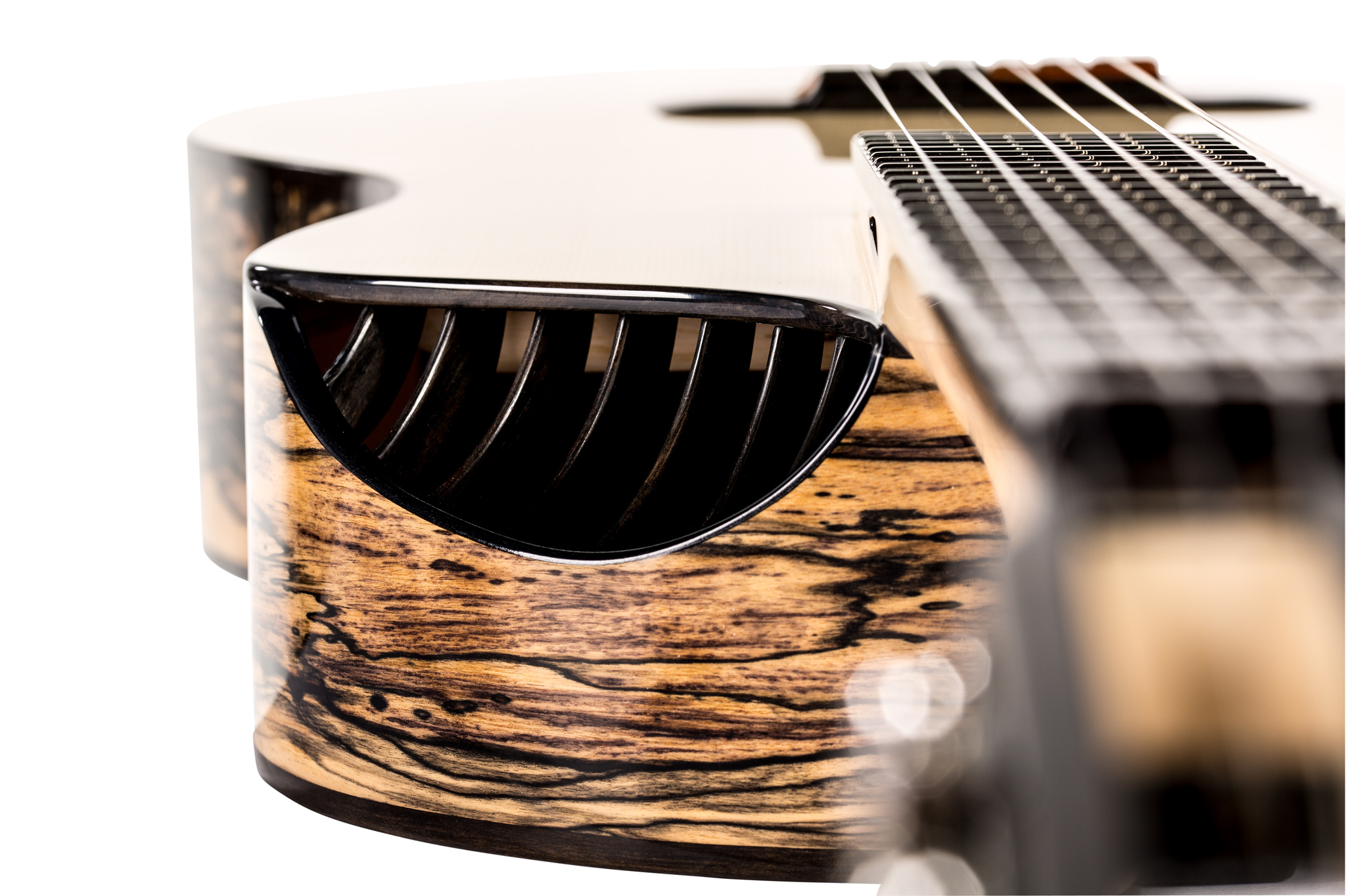 Guitar without soundhole