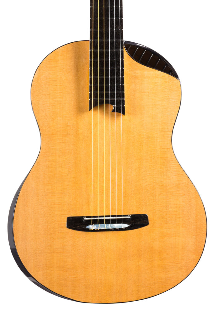 Double-top Cedar Guitar without standard soundhole