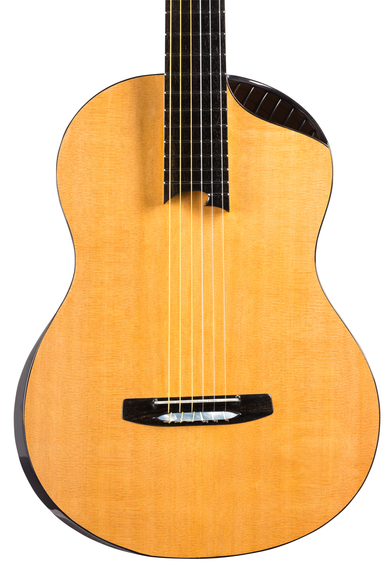 Double-top Cedar Guitar without standard soundhole
