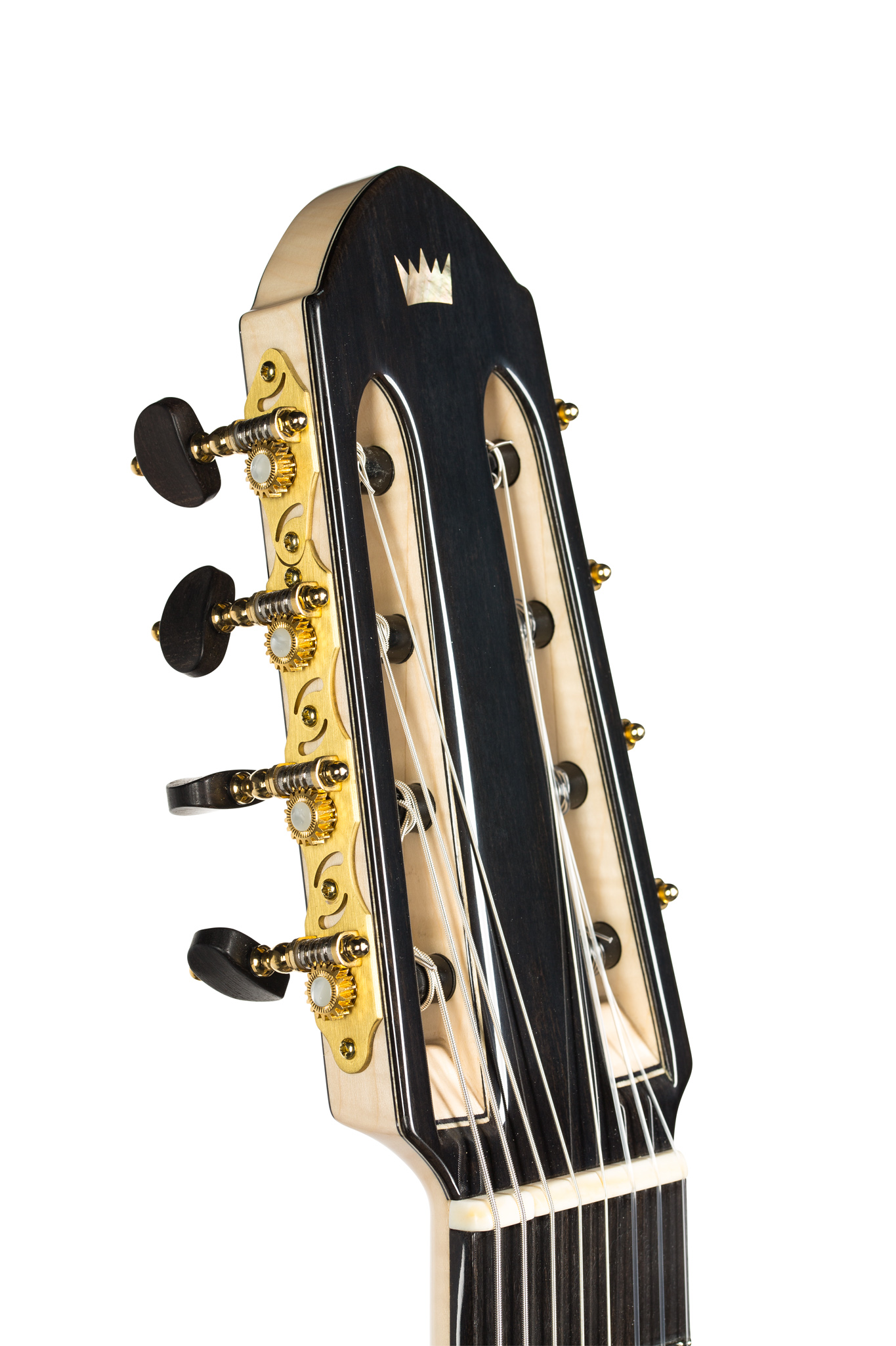 8-string classical guitar headstock