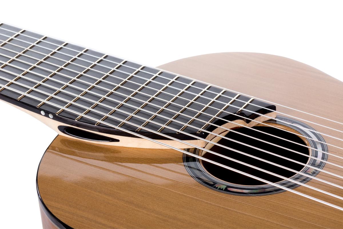 10-string classical guitar fingerboard finish