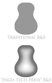 Traditional back&sides vs B&S made at High-Tech Press