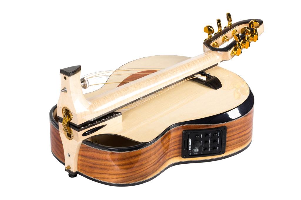 folding neck acoustic travel guitar