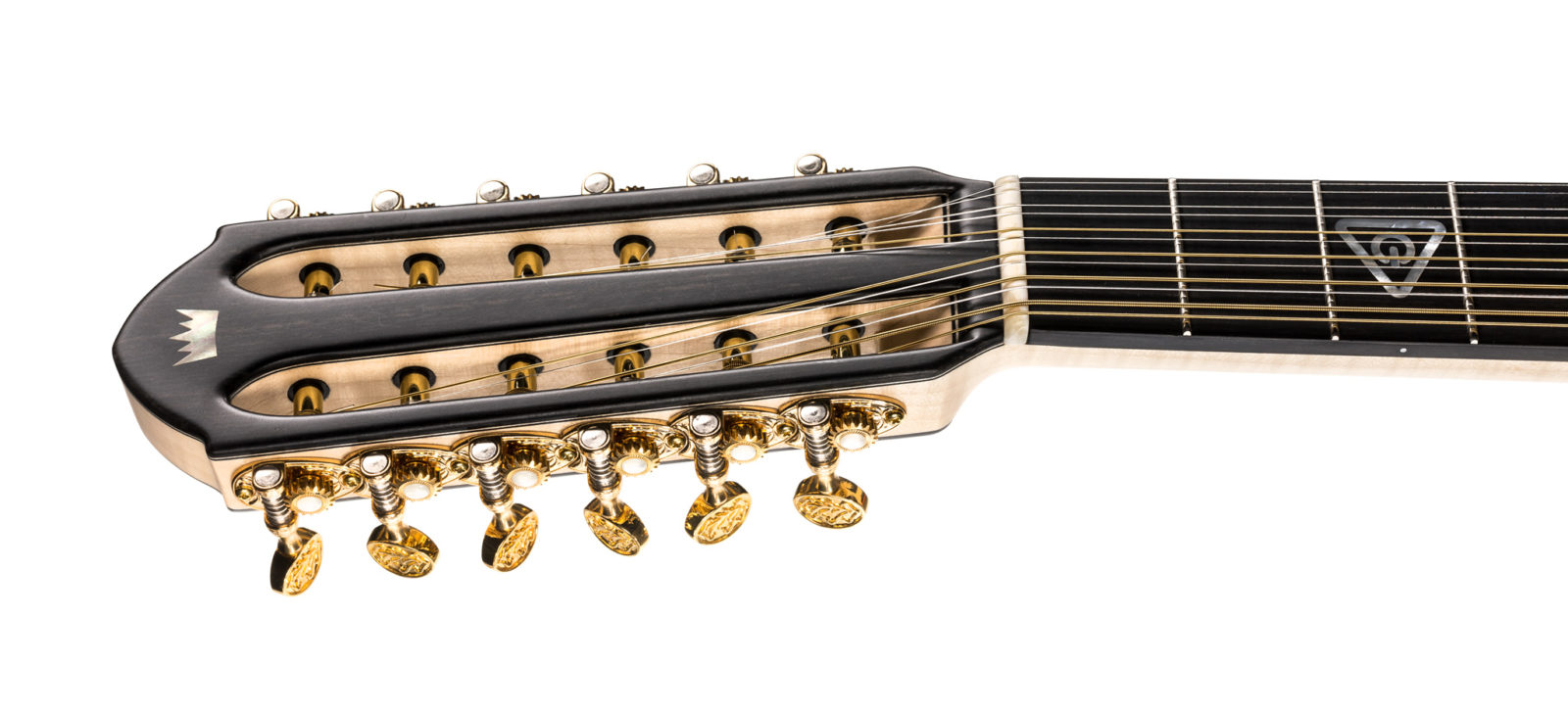 12-string slotted guitar headstock