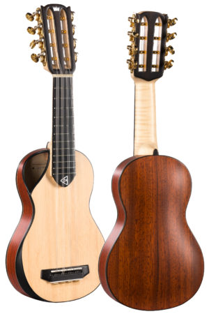 8 steel string travel concert ukulele