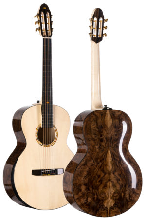Acoustic Guitar with natural baltic amber inlay