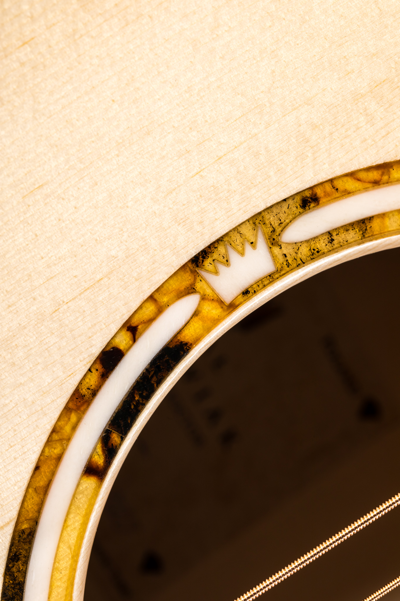 Natural Baltic Amber guitar rosette inlay