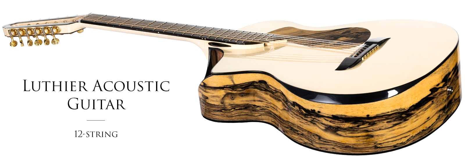 Luthier Acoustic Guitar 12-string Grand Auditorium with upper-bout left soundhole