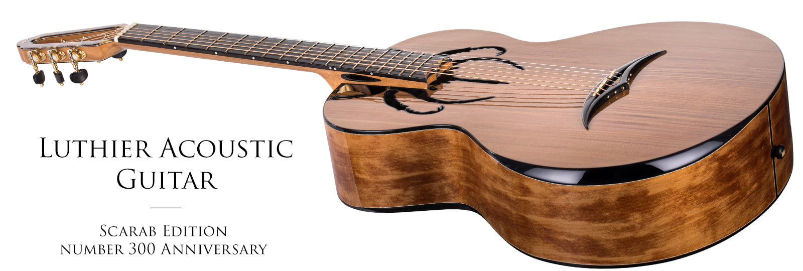 Luthier Acoustic Anniversary Scarab Guitar no 300