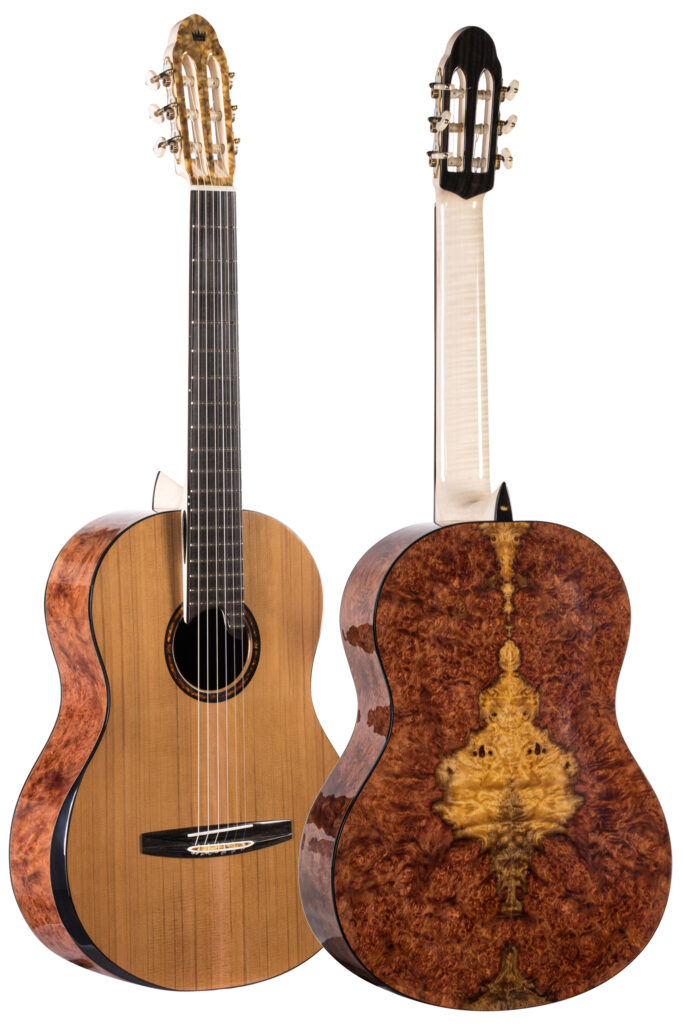 Classical guitar no. 333 front and back view